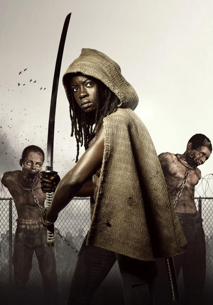 Michonne (Danai Gurira) - The Walking Dead - Season 3, Episode 1 - Photo Credit: Frank Ockenfels/AMC