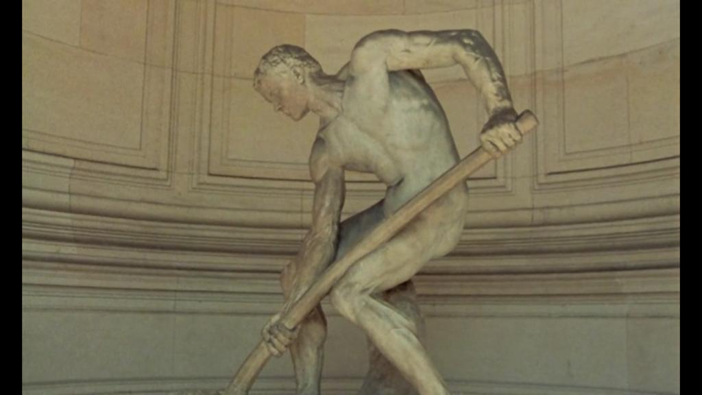 rayon vert statue