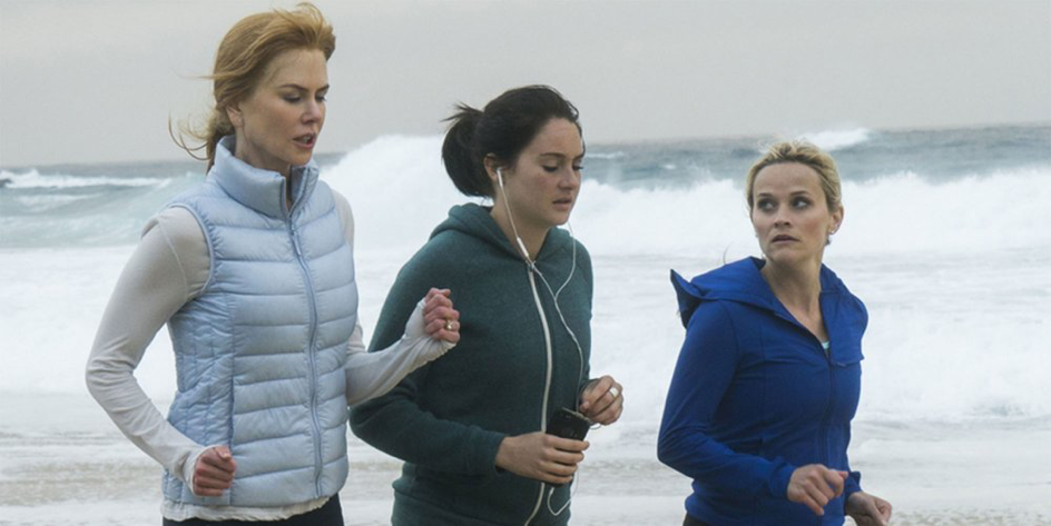 Little Big Lies women running beach girl power